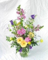 Small Pastel Spring Mixed Flowers