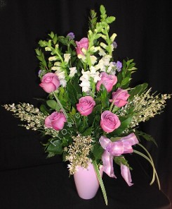 Lavender mix with roses