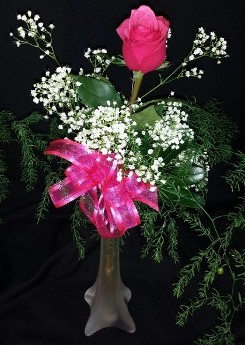 Single Rose Vase for delivery, Single Roses