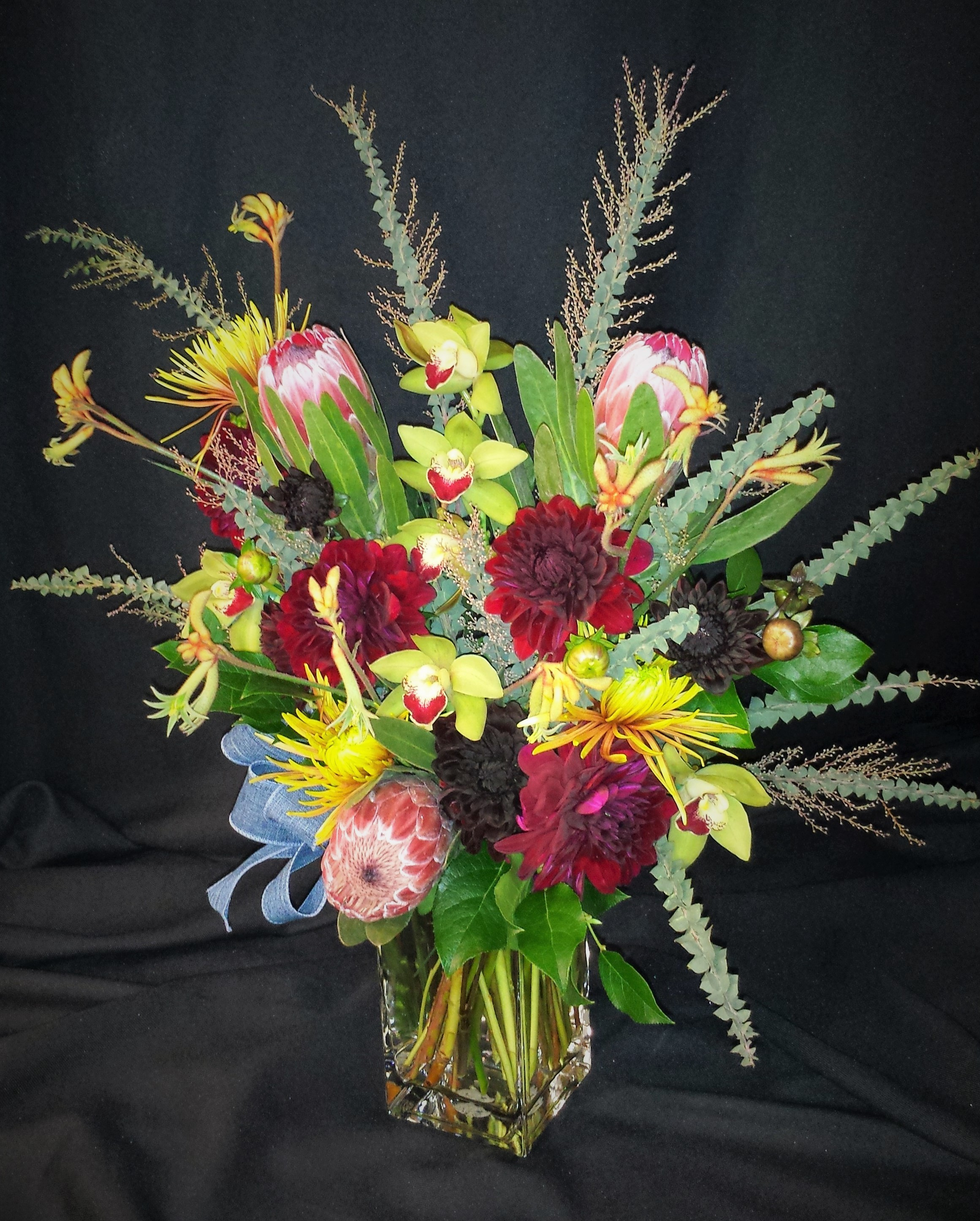 dahlia protea bouquet for fall