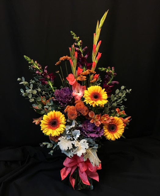 Autumn rich color bouquet