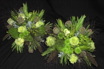 Autumn green rose centerpieces
