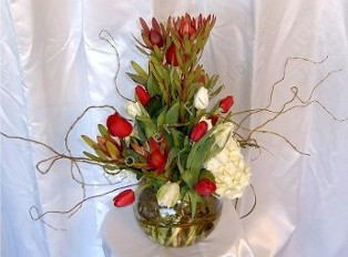Tulips Bowl with Willow