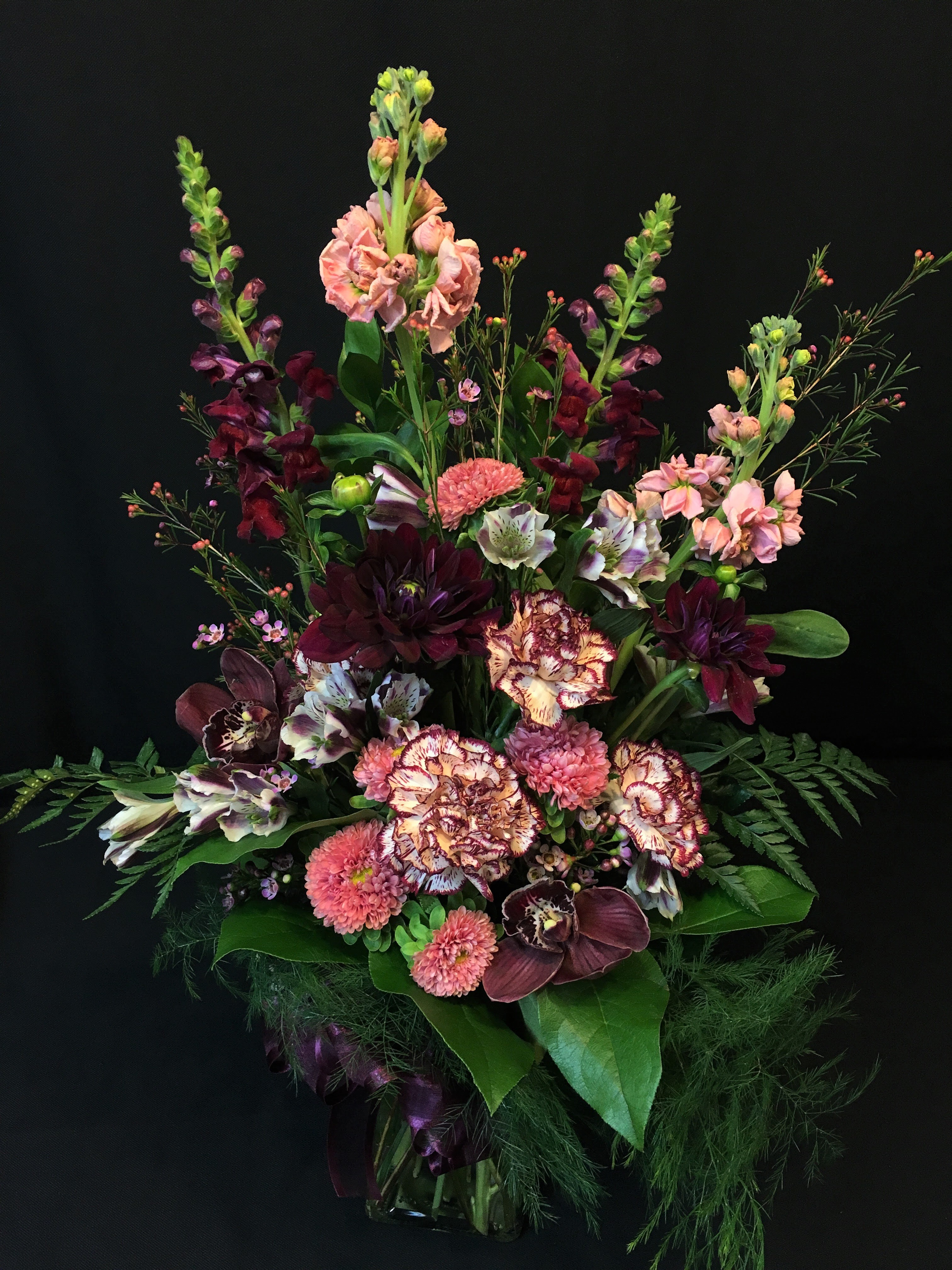 Romantic Mix with Orchids and Dahlia