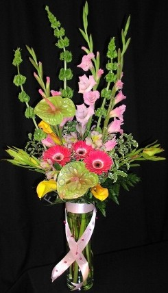 Mother's day bouquet premium tall mix with beaded ribbon