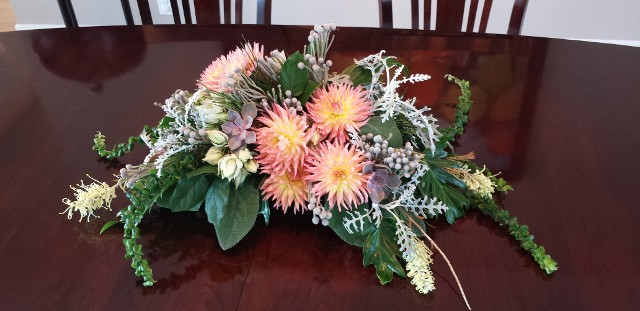 sangria dahlia fall centerpiece exotic flowers